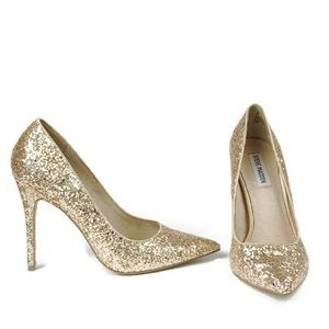 Steve Madden Gold Glitter Heels